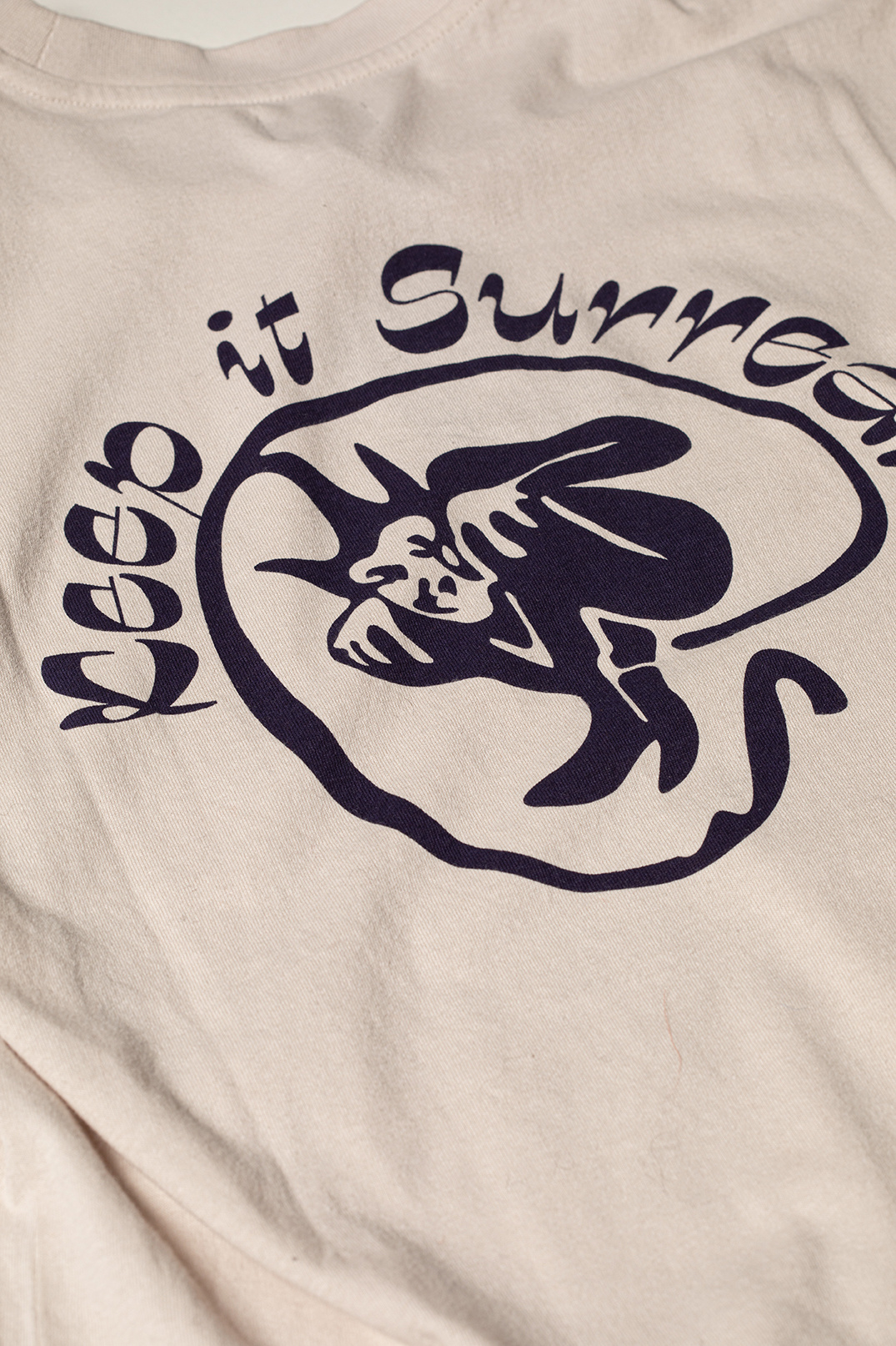 Keep It Surreal T-Shirt Zilver Grijs-3