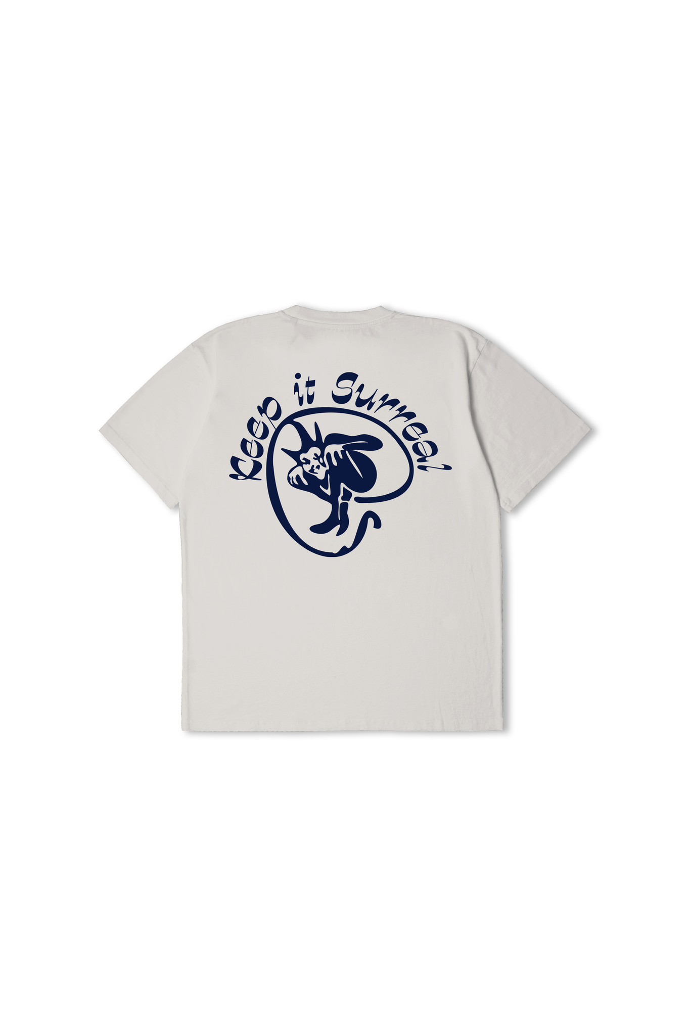 Keep It Surreal T-Shirt Zilver Grijs-2