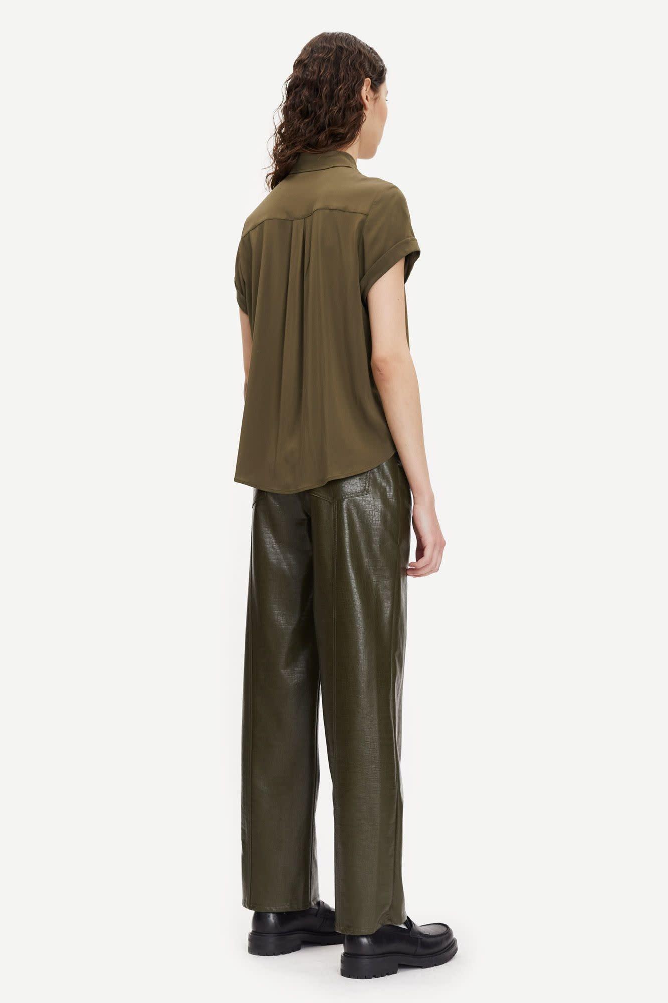 Majan Short Shirt Dark Green-1
