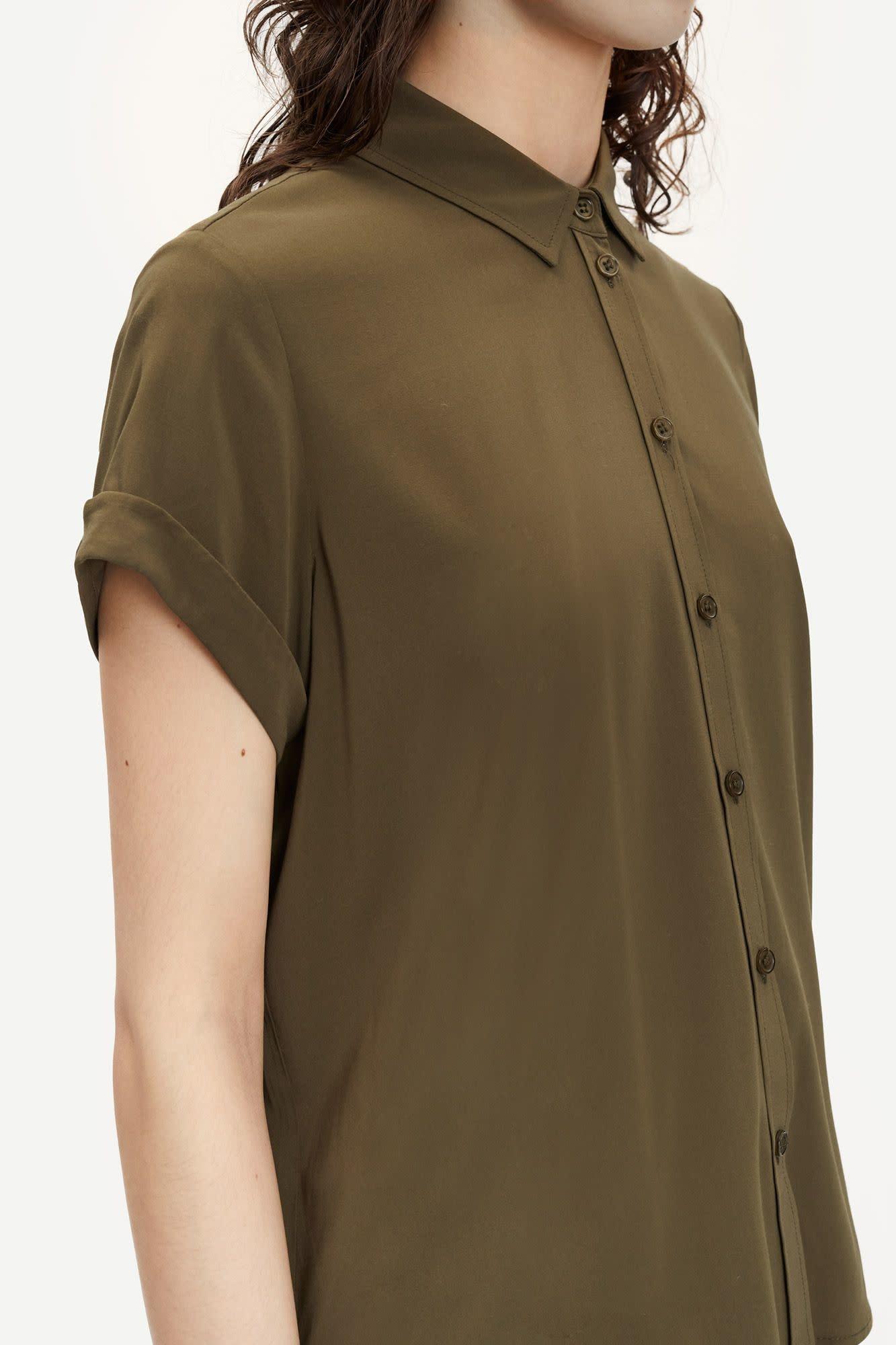 Majan Short Shirt Dark Green-2