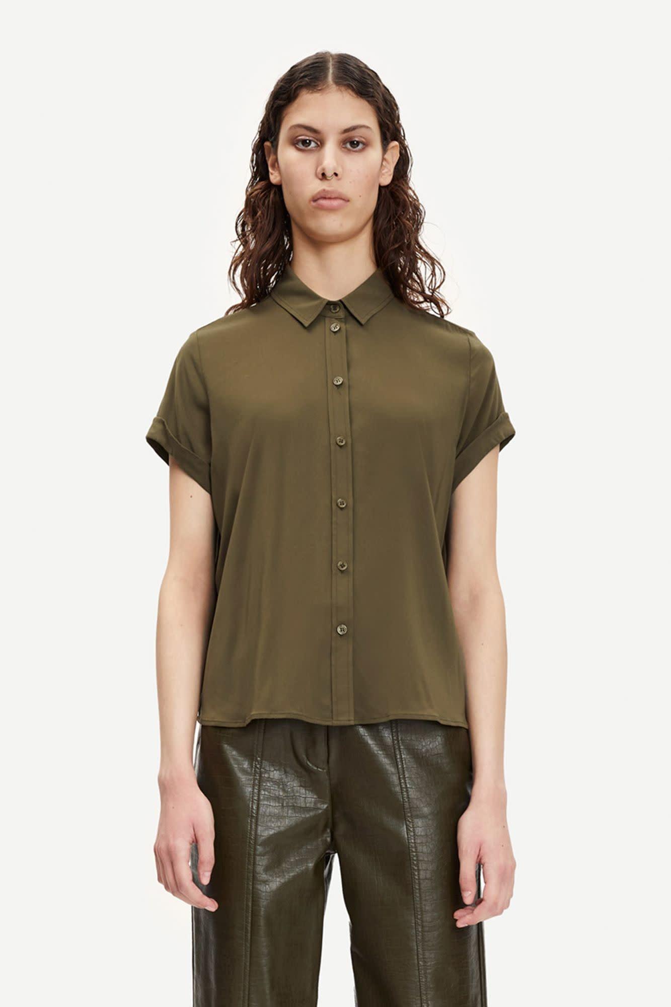 Majan Short Shirt Dark Green-3