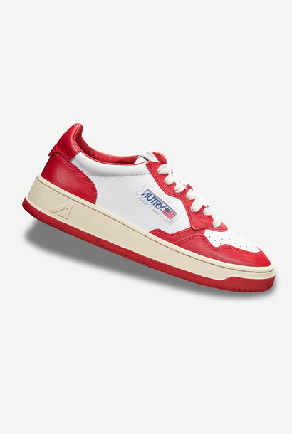 Medalist 01 Low White Red Leather Men