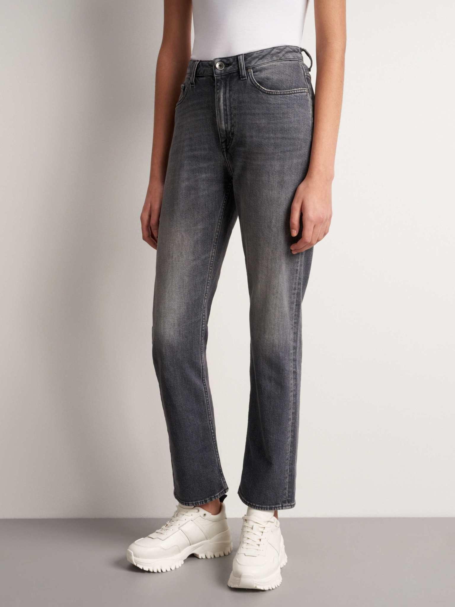 Meg Cropped Slim Zwart Grijze Jeans-2