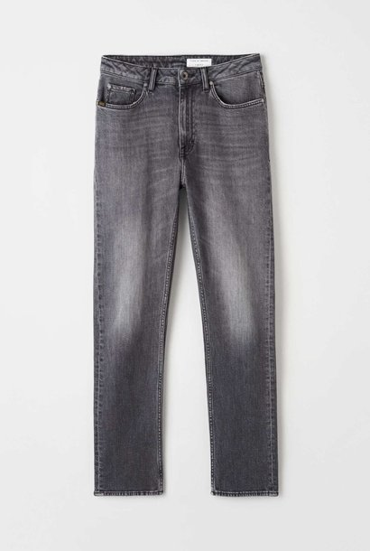 Meg Cropped Slim Black Grey Jeans
