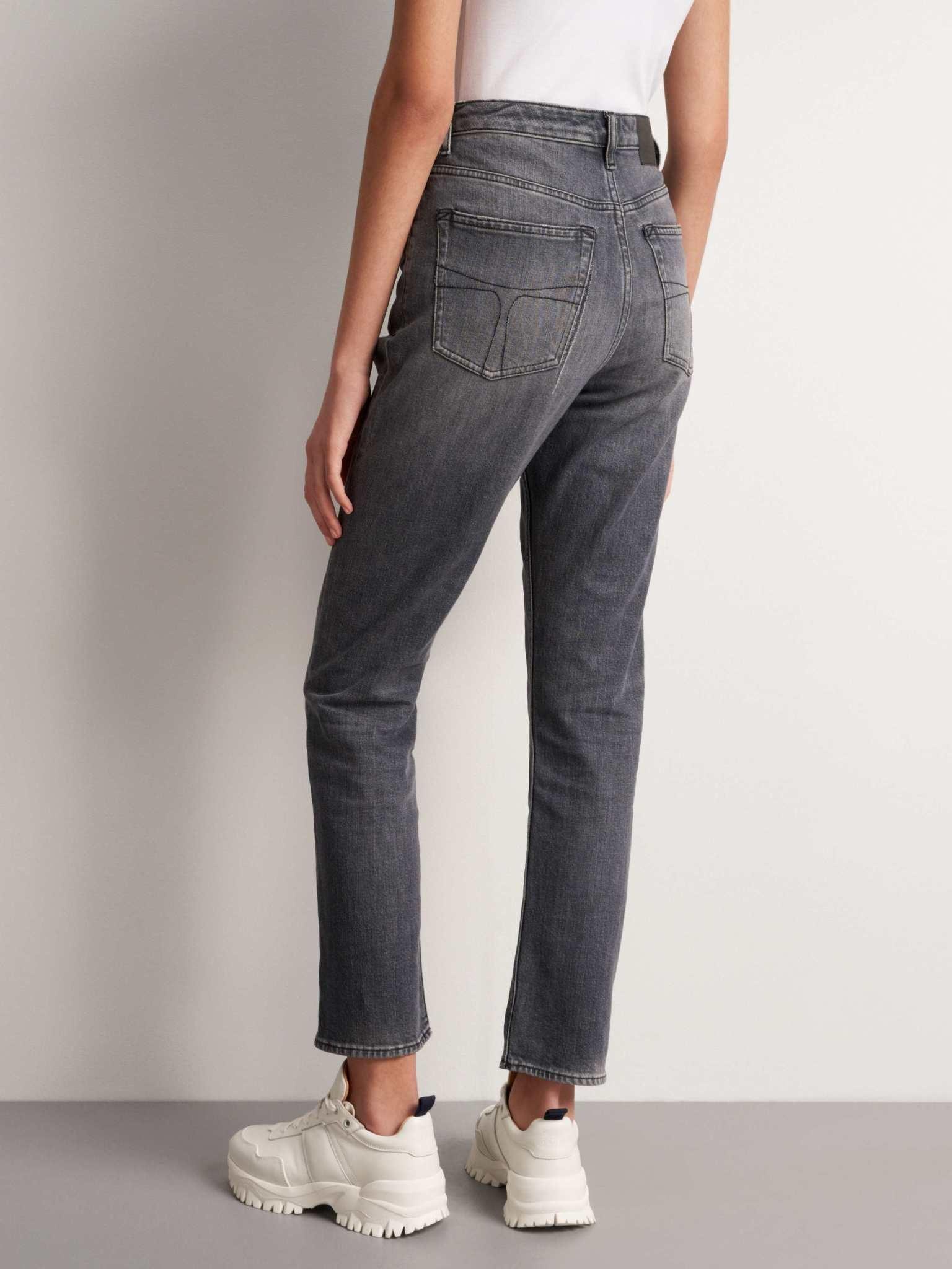 Meg Cropped Slim Zwart Grijze Jeans-3