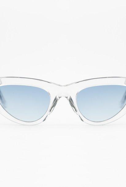 Moon Clear Silver Sunglasses