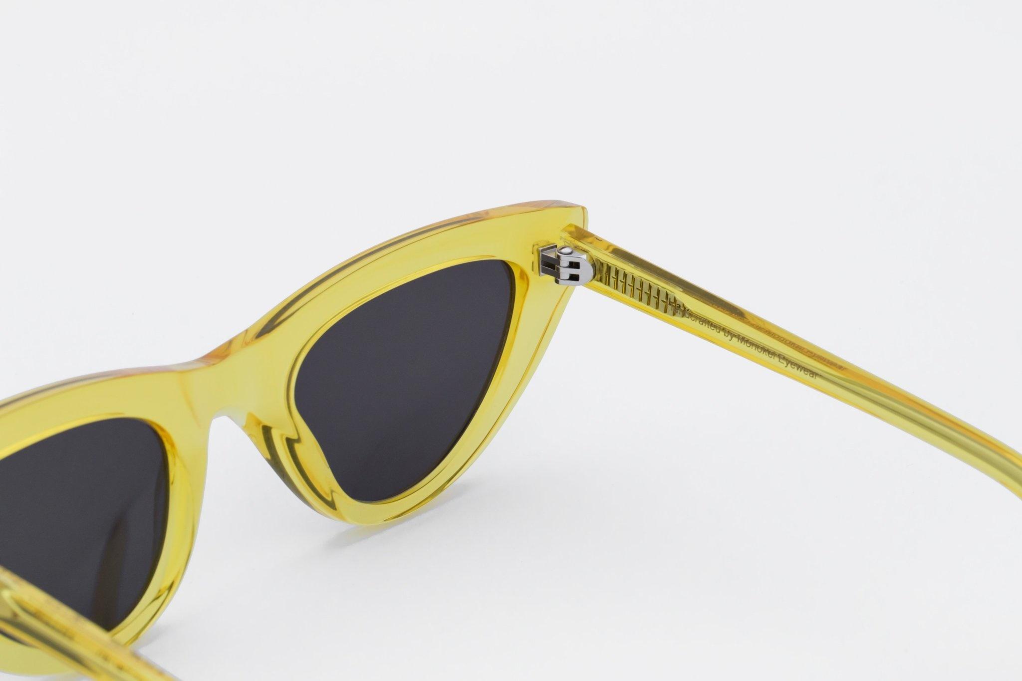 Moon Women Clear Yellow Sunglasses-2
