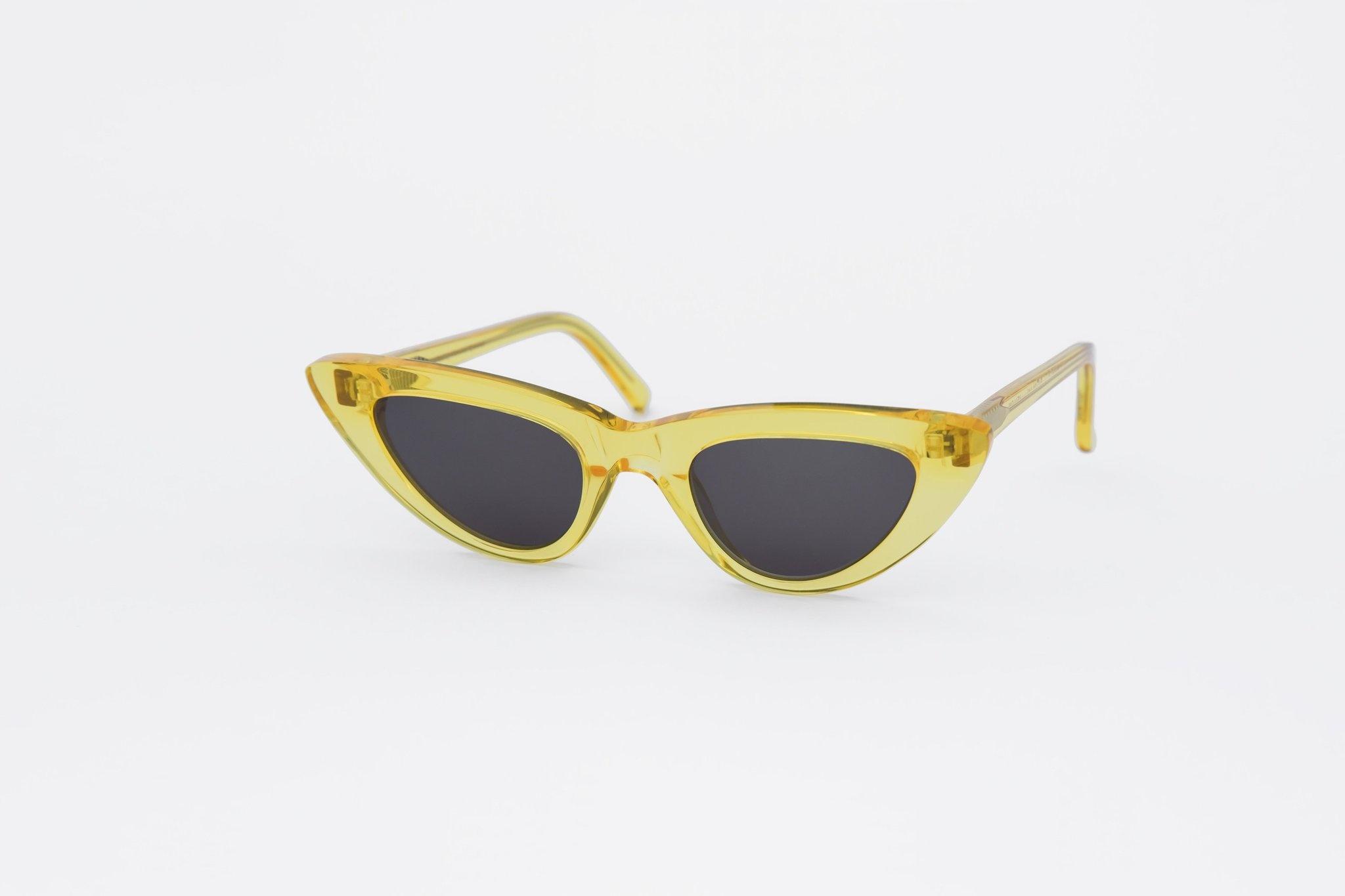 Moon Women Clear Yellow Sunglasses-3