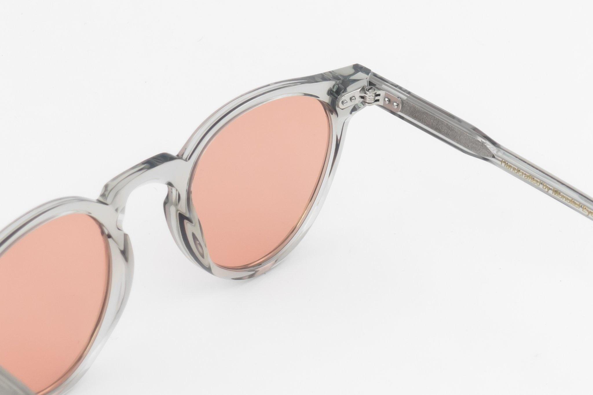 Bos grijze oranje lens zonnebril-2