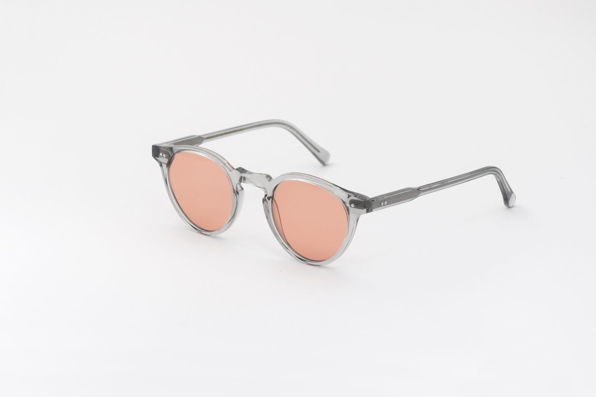Bos grijze oranje lens zonnebril-3