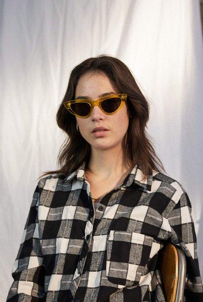 Cleo Black Crystal Havana Sunglasses