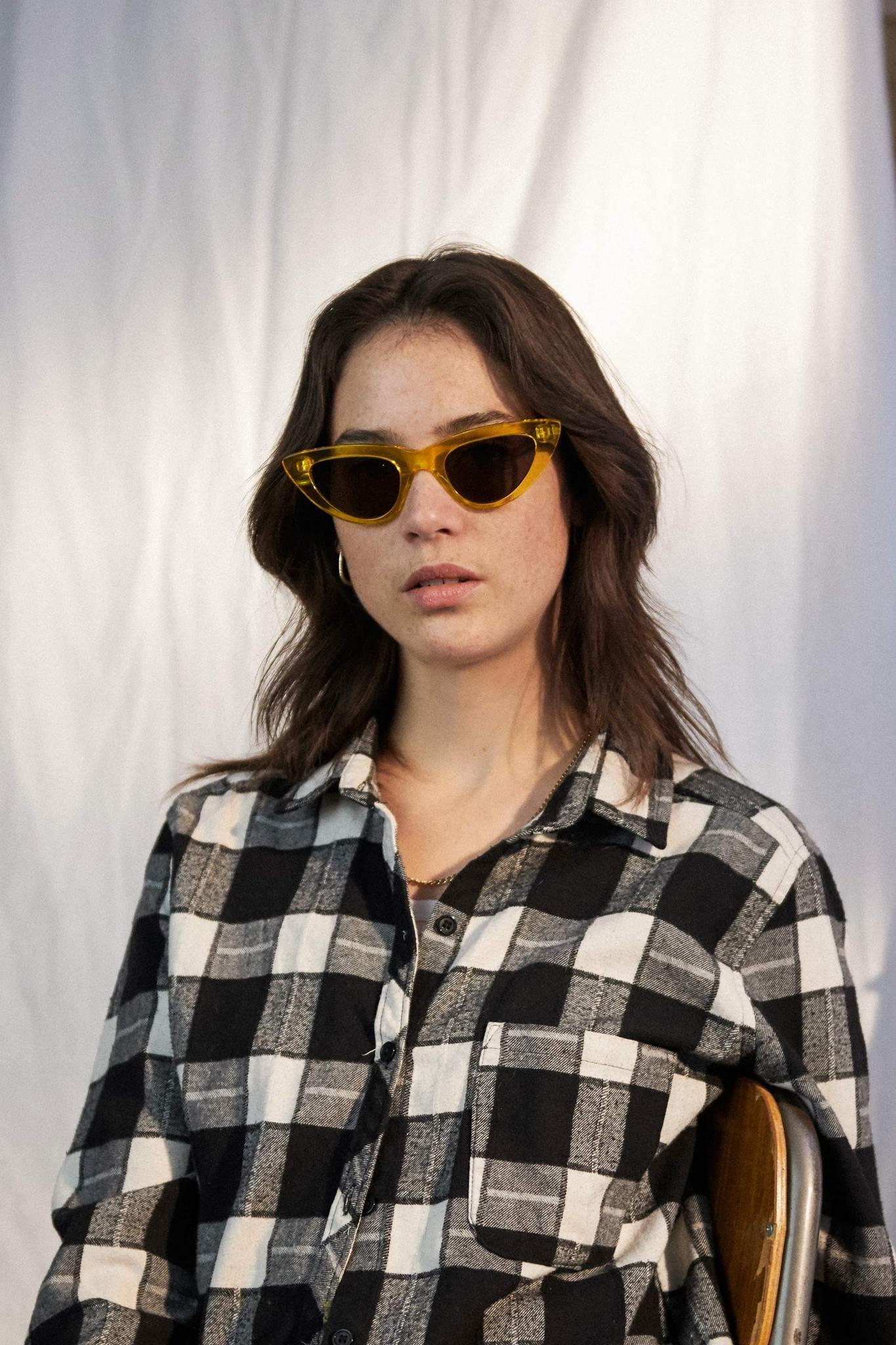 Cleo Black Crystal Havana Sunglasses-1