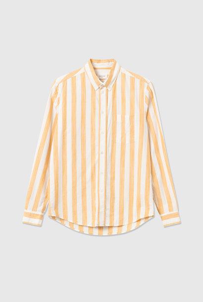 Adam Wide Stripe Shirt wit Geel
