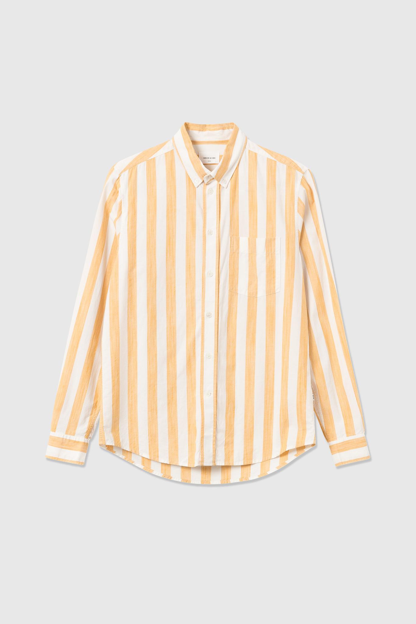 Adam Wide Stripe Shirt wit Geel-1