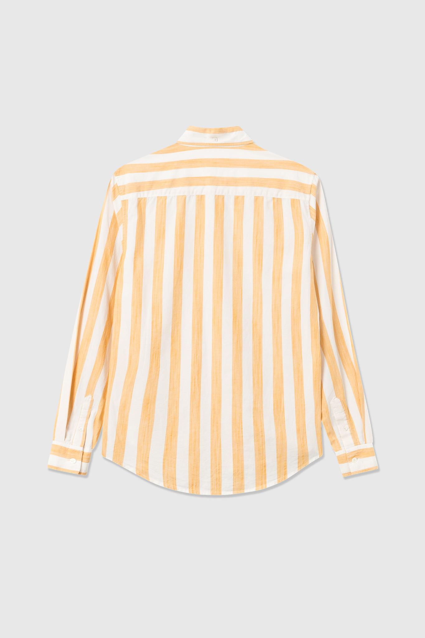 Adam Wide Stripe Shirt wit Geel-2