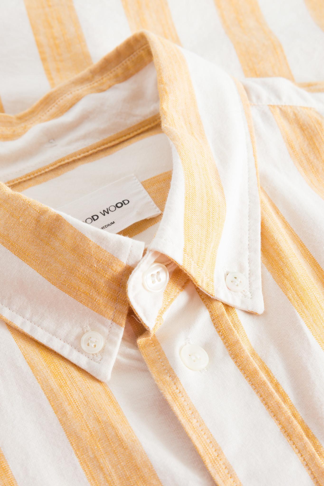 Adam Wide Stripe Shirt wit Geel-3