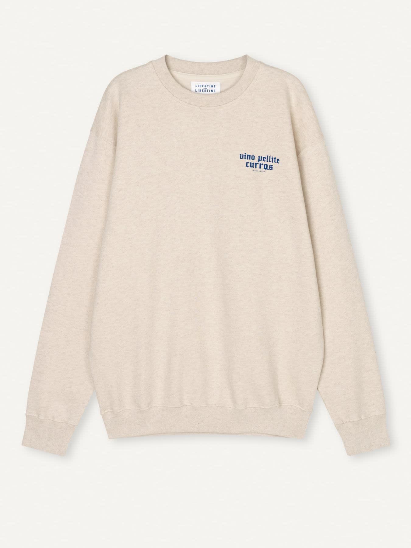 Society Pellite Sweatshirt Ecru Wit-1