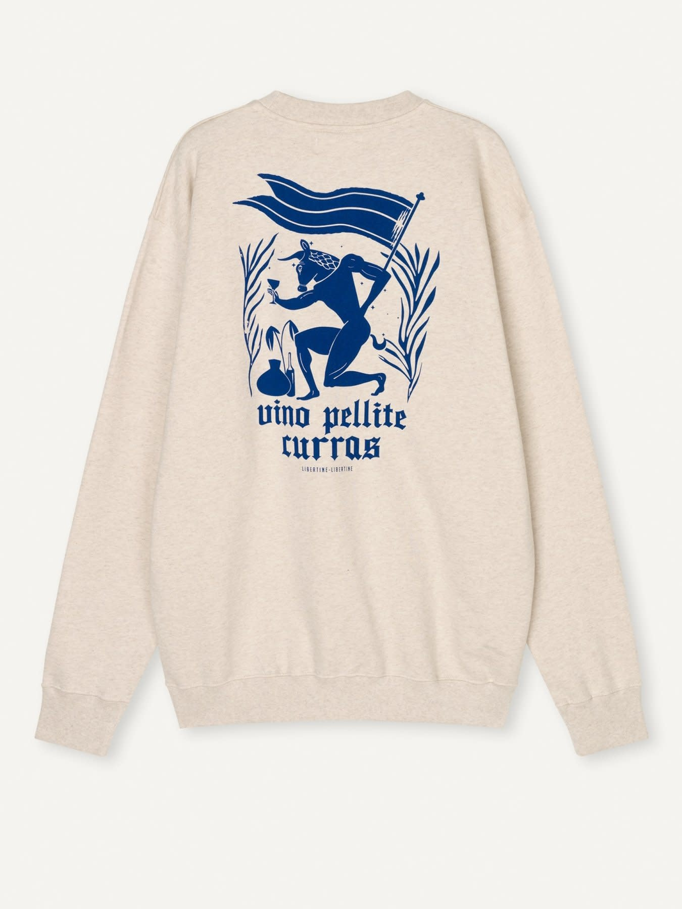 Society Pellite Sweatshirt Ecru Wit-2