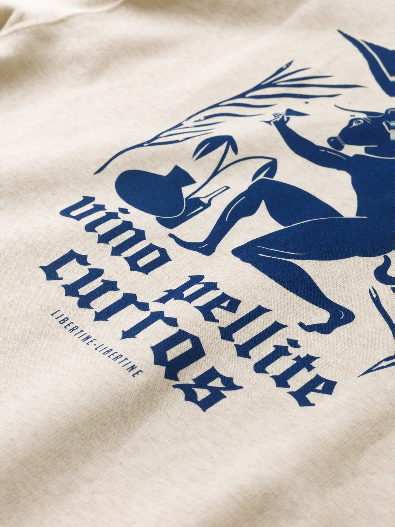 Society Pellite Sweatshirt Ecru Wit-3