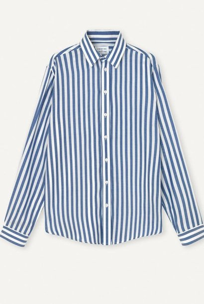 Babylon Blue White Stripe Shirt