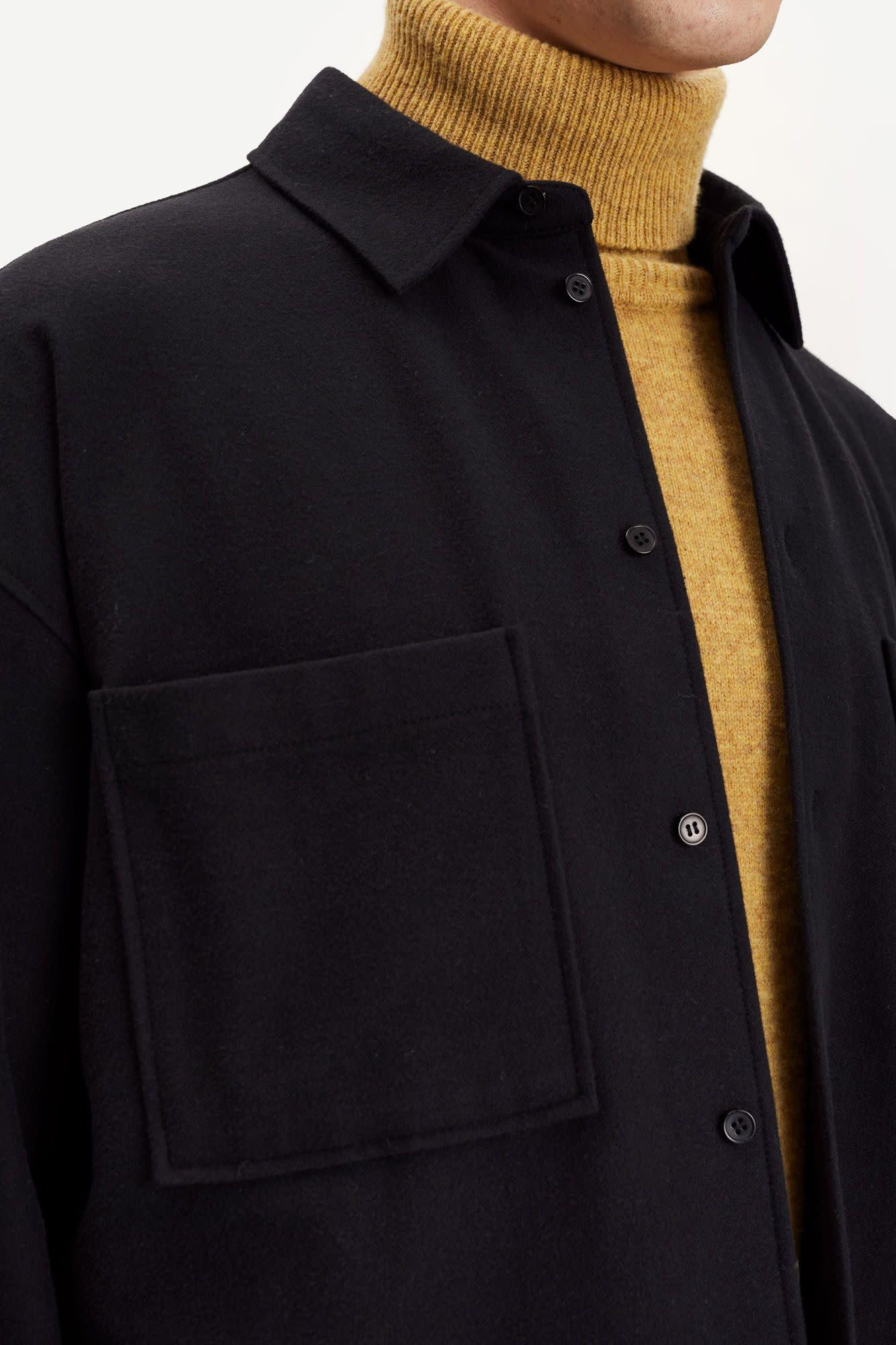 Poule Heavy Overshirt Black-2
