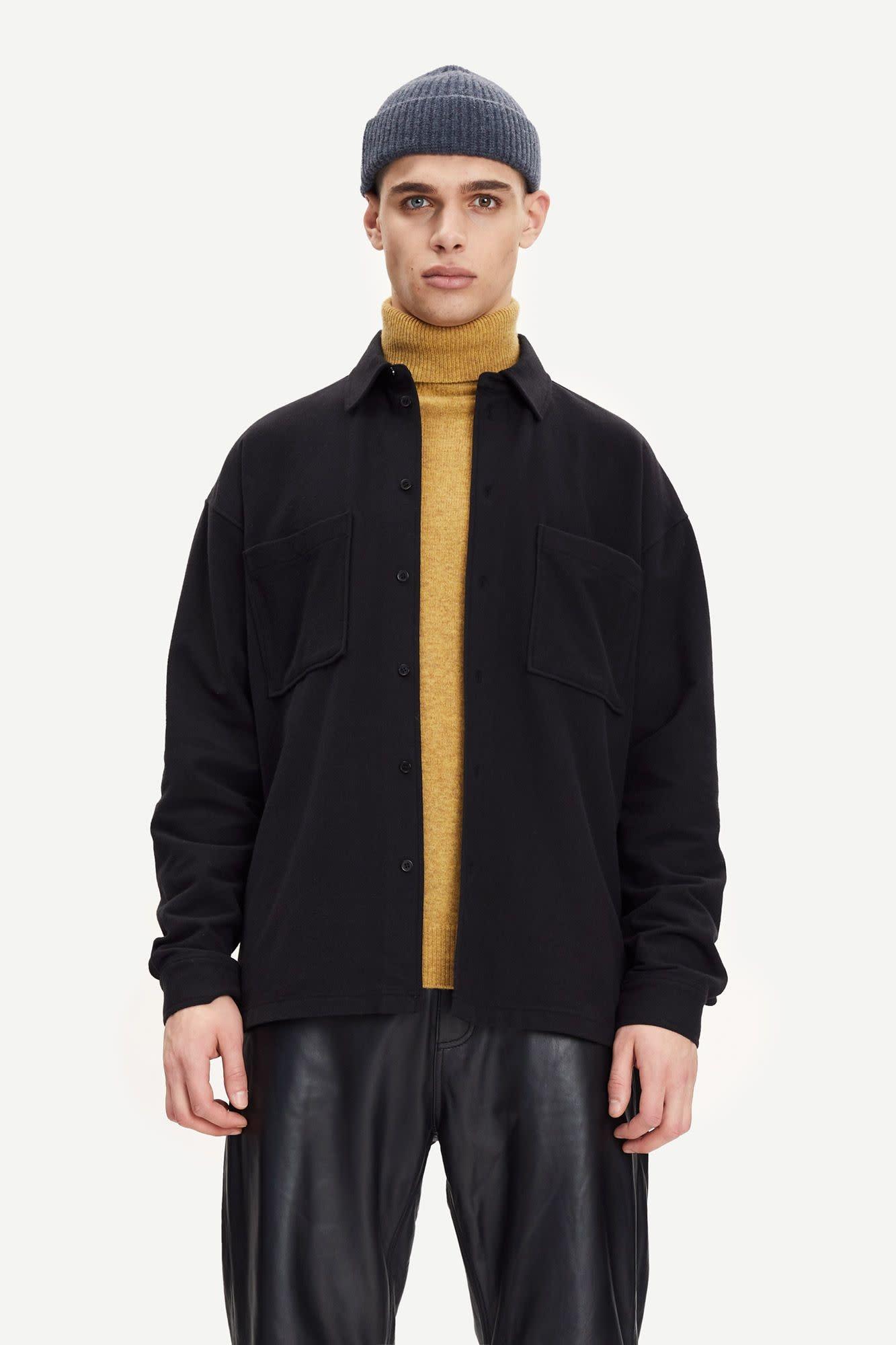Poule Heavy Overshirt Black-4