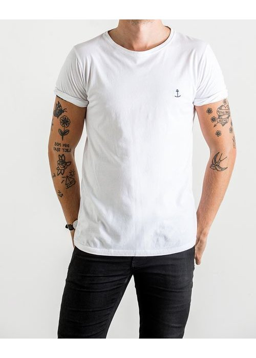The Blue Uniform Embo Tee White
