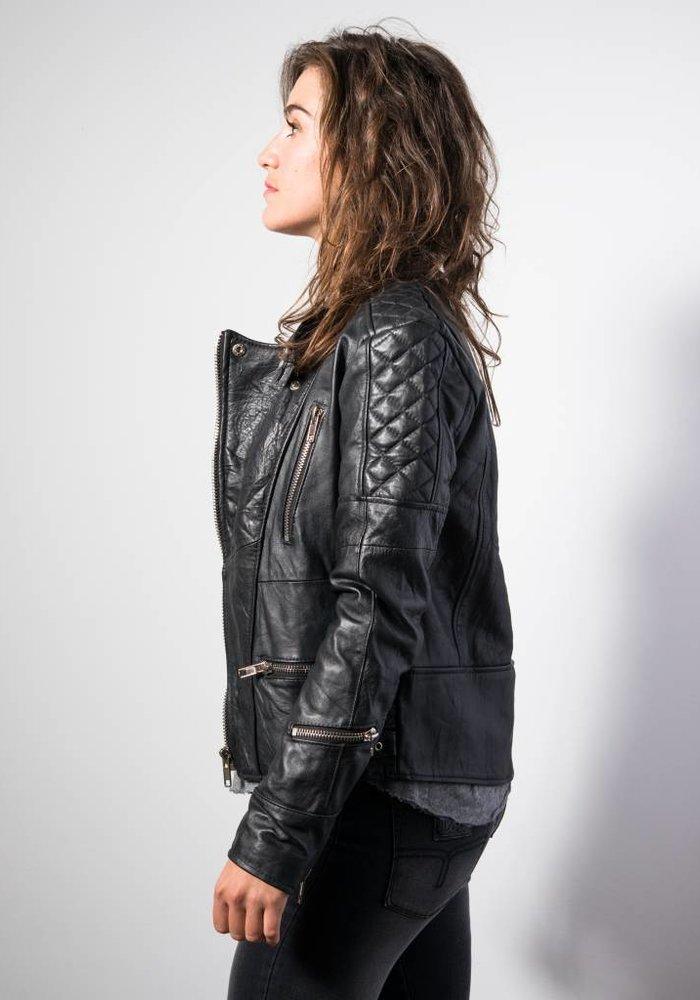 Ryder Jacket Women Black Leather