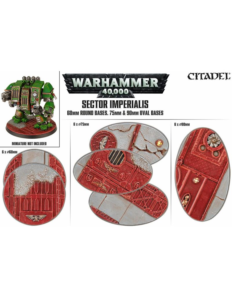 Citadel Sector Imperialis 60mm, 75mm, 90mm Oval Bases Kit