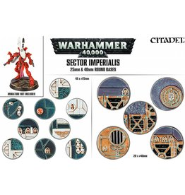 Citadel Sector Imperialis 25, 40mm Round Bases