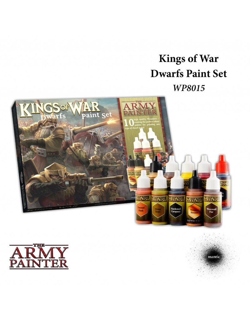 The Army Painter Warpaints Kings Of War Dwarfs Paint Set