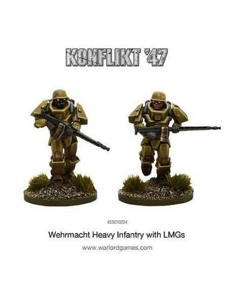 Warlord Games Wehrmacht Heavy Infantry with LMGs