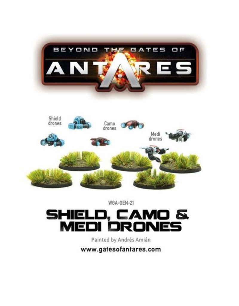 Warlord Games Shield, Camo & Medi-Drones (6 Fig Blister)