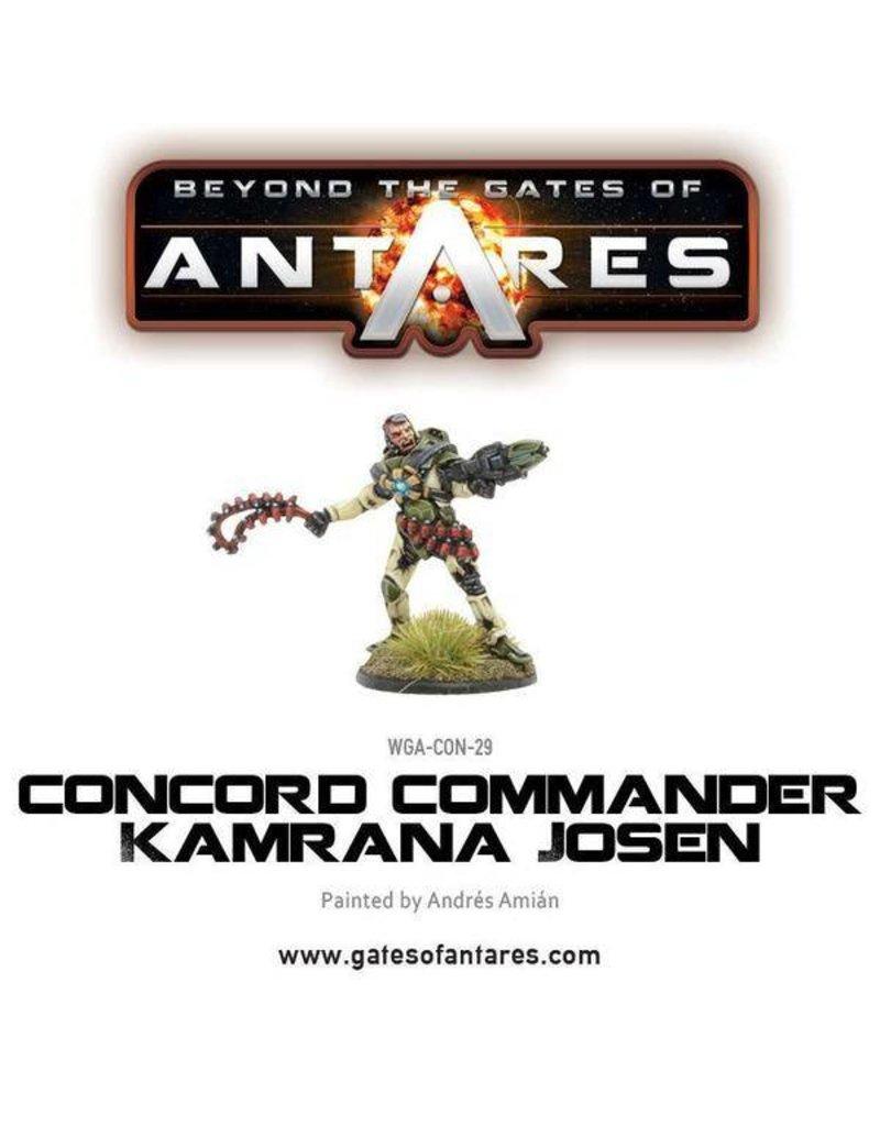 Warlord Games Concord Commander Kamrana Josen