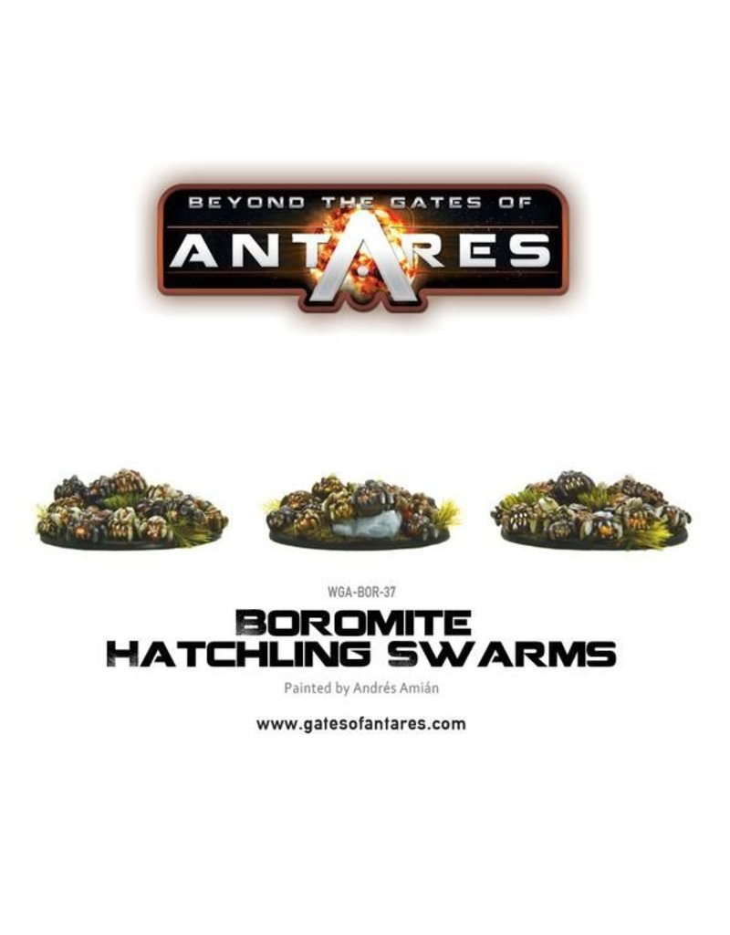 Warlord Games Boromite Hatchling Swarms (3 resin bases of Hatchlings)
