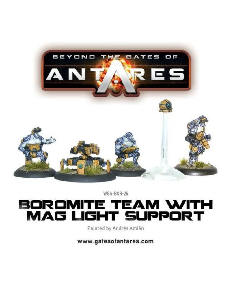 Warlord Games Boromite Team with Mag Light Support