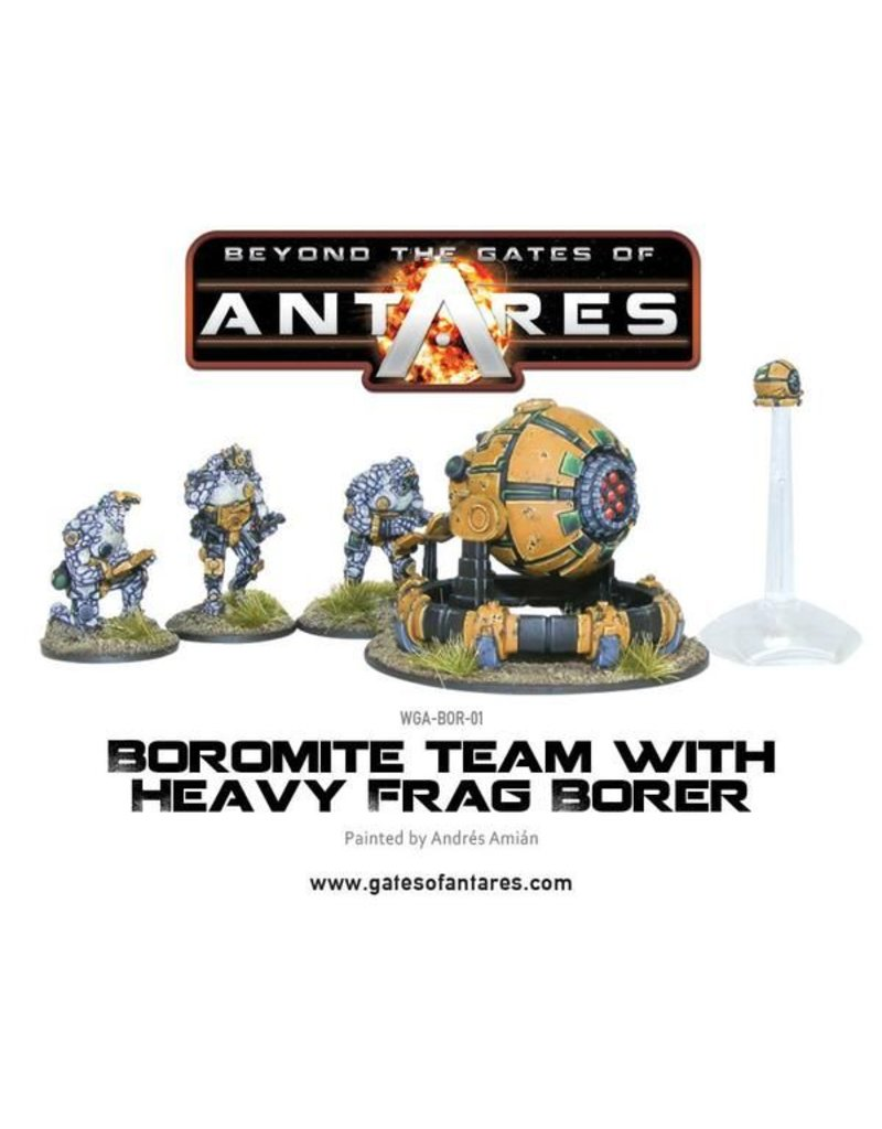 Warlord Games Boromite Team with Heavy Frag Borer