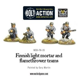 Warlord Games Finnish Light Mortar & Flame Thrower Teams