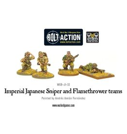 Warlord Games Japanese Sniper and Flamethrower teams