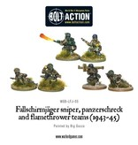 Warlord Games German Fallschirmjager Panzerschrek, sniper and flamethrower teams