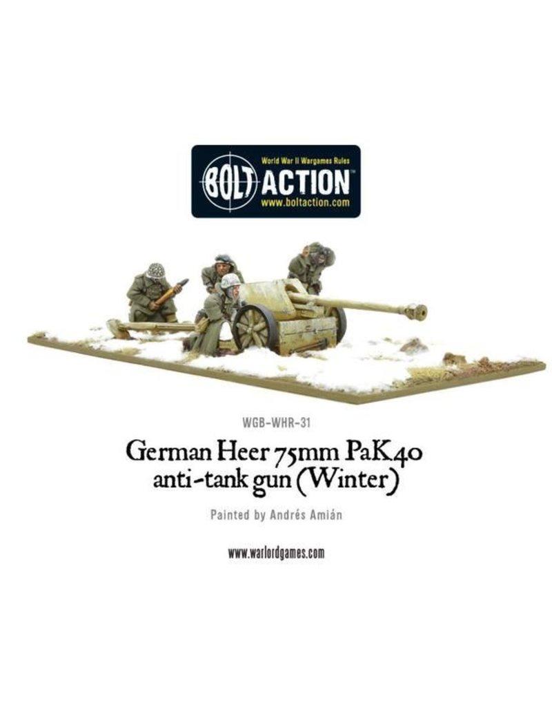 Warlord Games German Heer 75mm Pak 40 anti-tank gun (Winter)