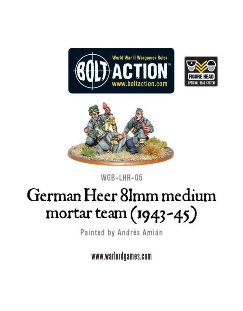 Warlord Games German Heer 81mm Medium Mortar