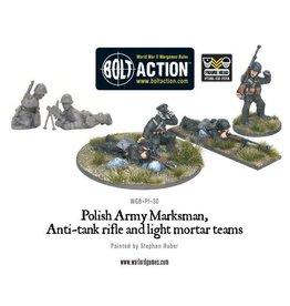 Warlord Games Polish Marksmen, Anti-Tank Rifle & Light Mortar