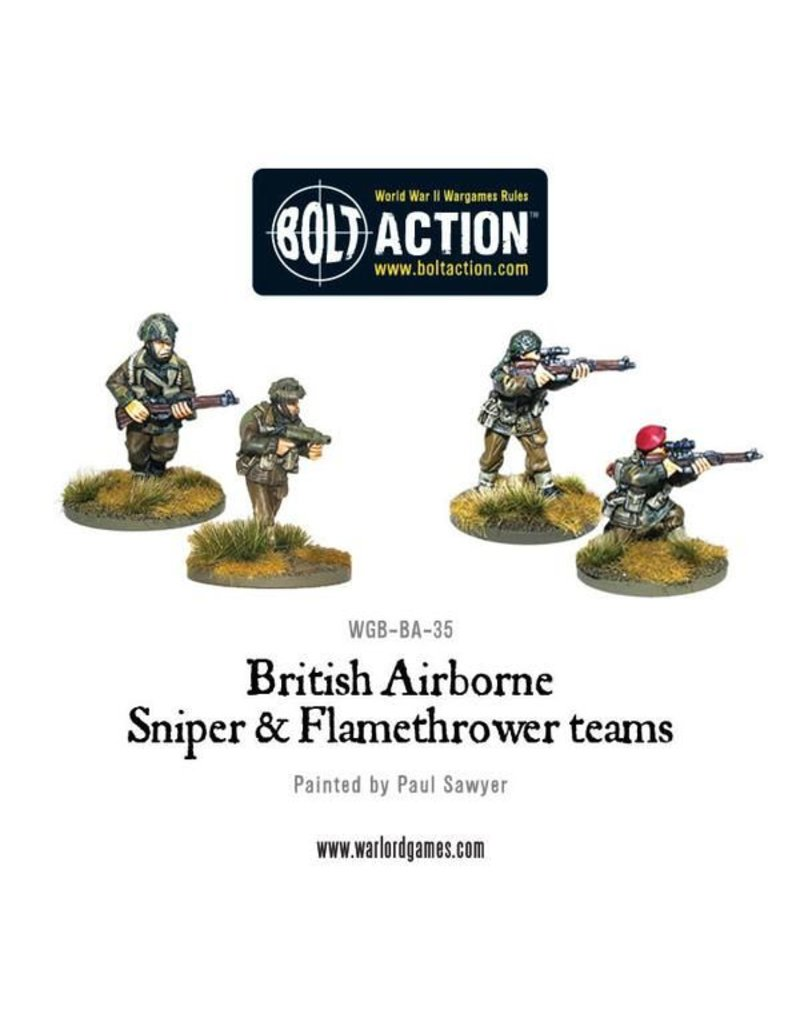 Warlord Games British Airborne Flamethrower and sniper teams