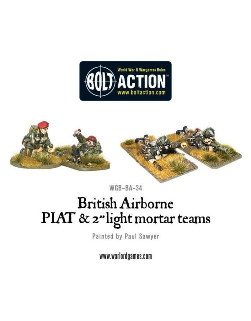 Warlord Games British Airborne PIAT and Light Mortar team