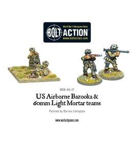 Warlord Games US Airborne Bazooka & 60mm light mortar team