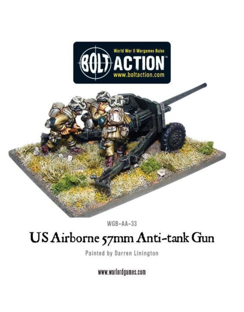 Warlord Games US Army Airborne 57mm Anti Tank Gun & Crew