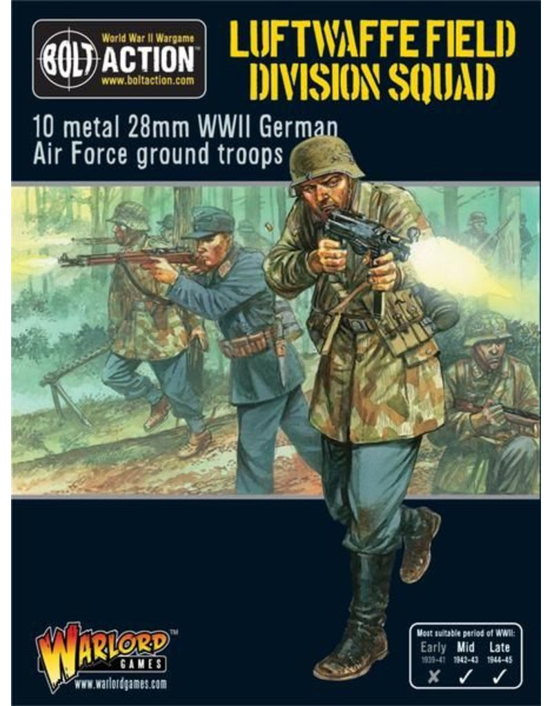Warlord Games German Luftwaffe Field Division Squad