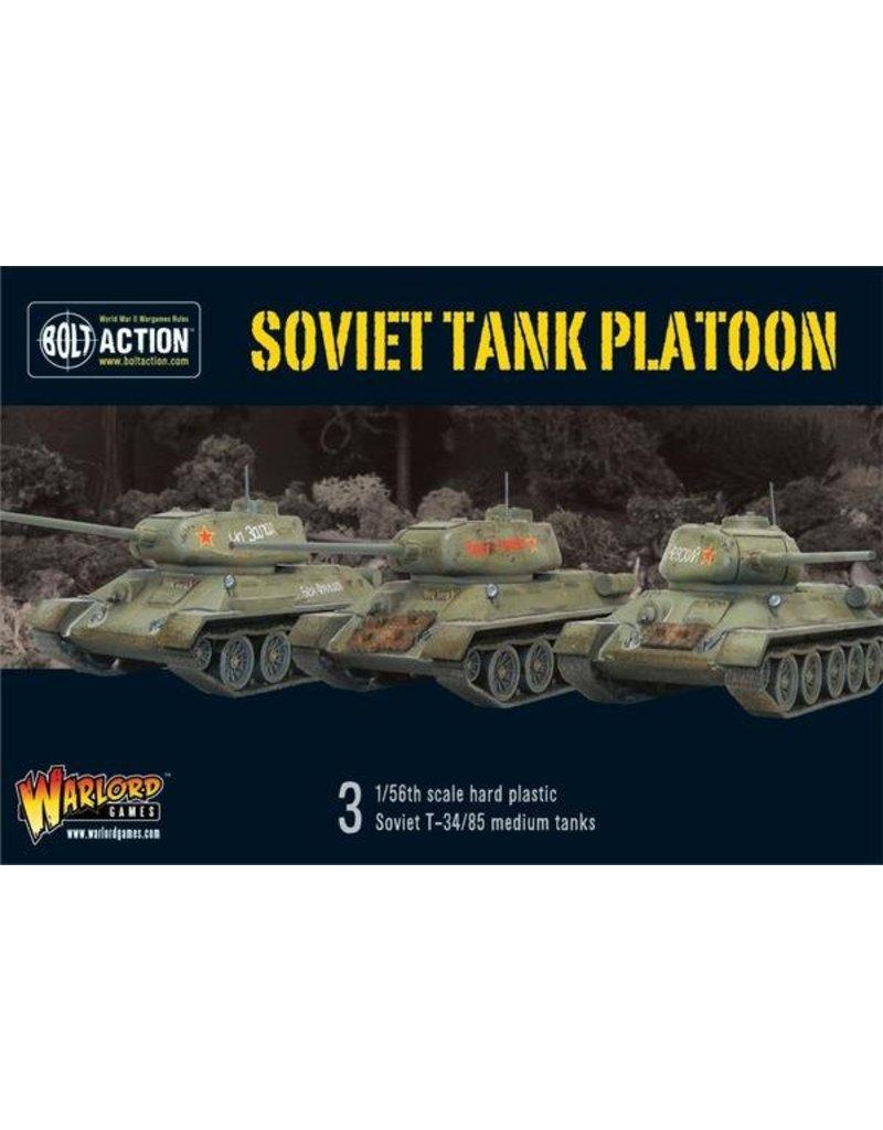 Warlord Games Soviet Armoured Platoon (W/ Tank Riders)