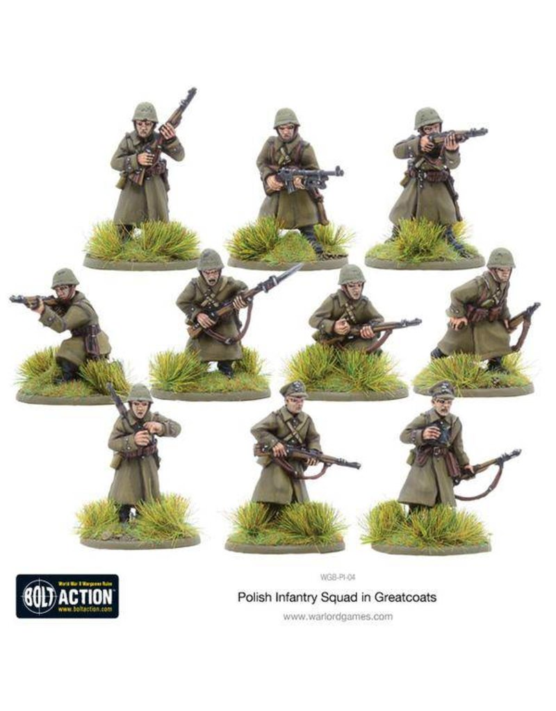 Warlord Games Polish Infantry Squad in greatcoats